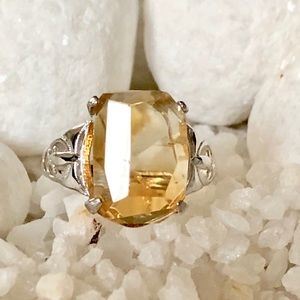 Jewelry - 🛍✨FACETED NATURAL CITRINE SILVER RING💍💍